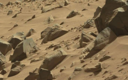 Mysterious Face-Like Rock or Statue on Mars