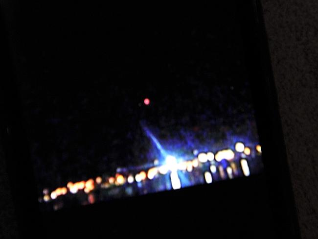 Jane Pooley of Springfield captured this picture of a UFO over the Coast in 2012.
