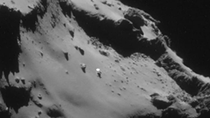 Mysterious Object on Rosetta Comet