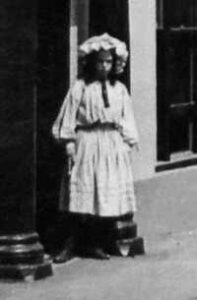 The girl in the 1922 Wem picture