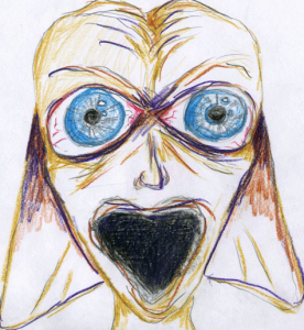 Drawing of One of Creatures by Witness (Creatures of Varied Appearance Were Seen)