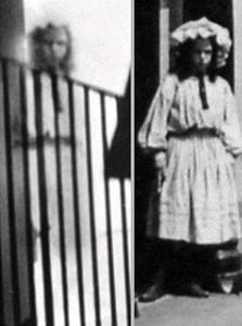 Comparison of the girl in the photo, and the girl in the postcard.