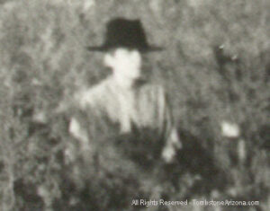 The Ghost of Boothill Cemetery - Zoomed in on unknown figure.