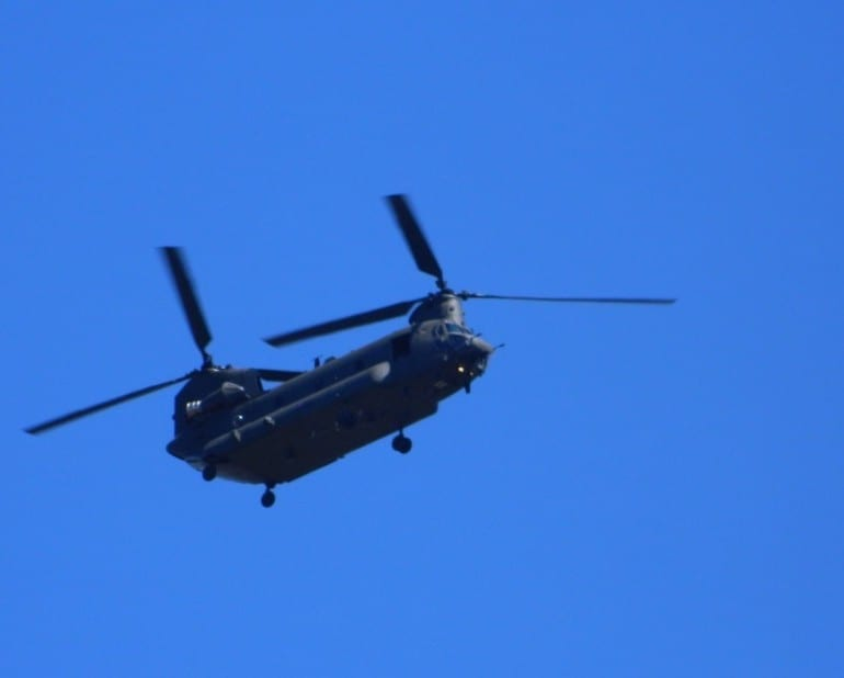 Man Sees Chinook Helicopters Escort Flying Saucer