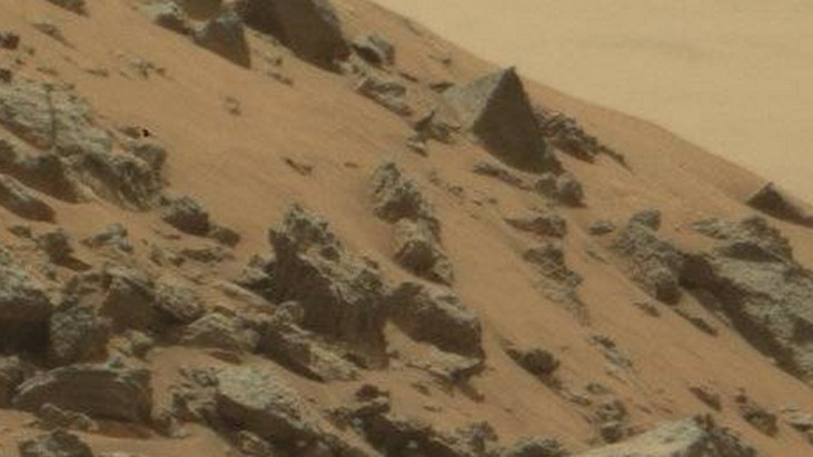 Is this a pyramid on Mars?