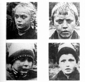 Some of the children of Voronezh: Lena Sarokina; Vasya Surin; Vova Startsev; Alyosha Nikonov. (credit: Michael Hesemann)