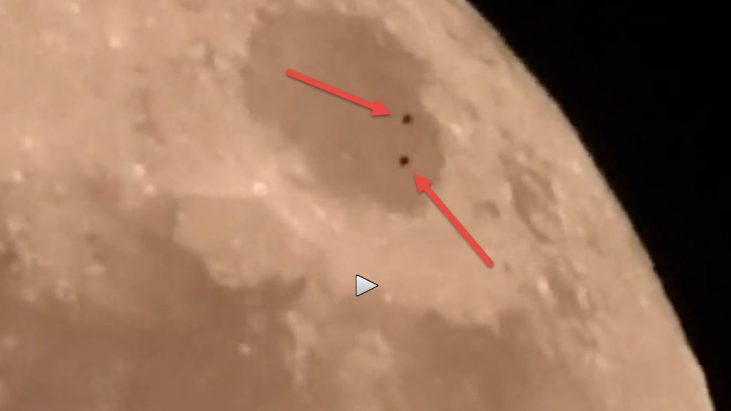 "UFO Seen Over Lunar Surface – During Filming of the ""Super Moon"""