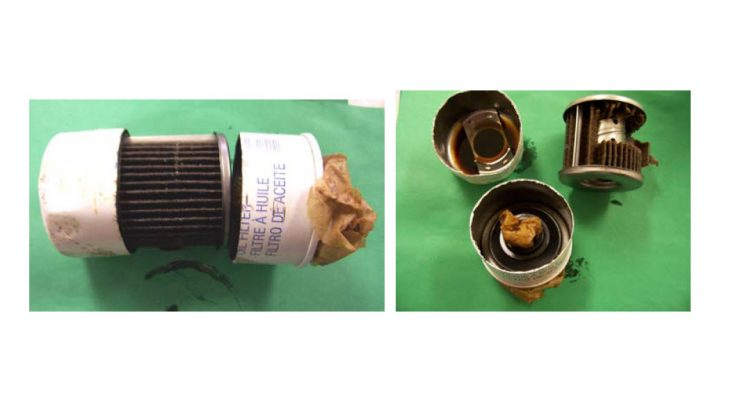 Analysis of the Contents in an Oil Filter from a Vehicle Which Experienced a Close Encounter with a UFO (June 24, 2011, Leupp, Arizona)