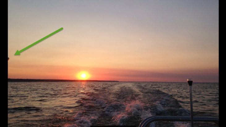 UFO Captured During Sunrise at Oneida Lake, New York