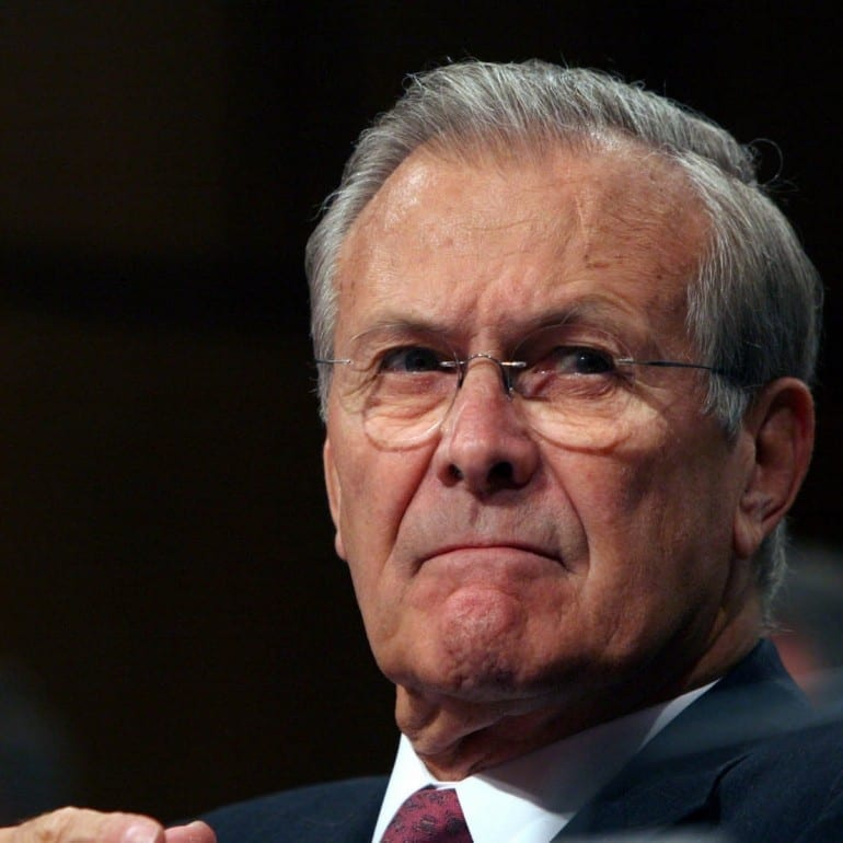 Documents Released to Former Secretary Donald Rumsfeld for his book Known and Unknown