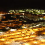 NSA Building at night