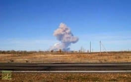 4,000 tons of shells explode in Central Russia, October 2012