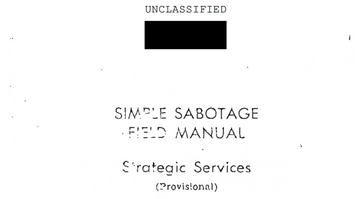 Simple Sabotage Field Manual, 1944