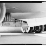 Photographic copy of photograph, n.d. (original photograph in 55th Wing Historian files, Offutt AFB, Bellevue, Nebraska). Detail of funnel-shaped drogue that holds the trailing wire antenna, a component of the aircraft's communication system. - Offutt Air Force Base, Looking Glass Airborne Command Post, Looking Glass Aircraft, On Operational Apron covering northeast half of Project Looking Glass Historic District, Bellevue, Sarpy County, NE Photos from Survey HAER NE-9-B