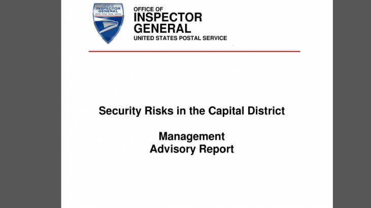 USPS Investigation: Security Risks in the Capital District Management Advisory Report, January 27, 2014