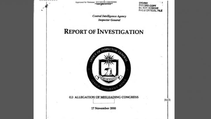 CIA/IG Investigation: Allegation of Misleading Congress, 11/17/2000