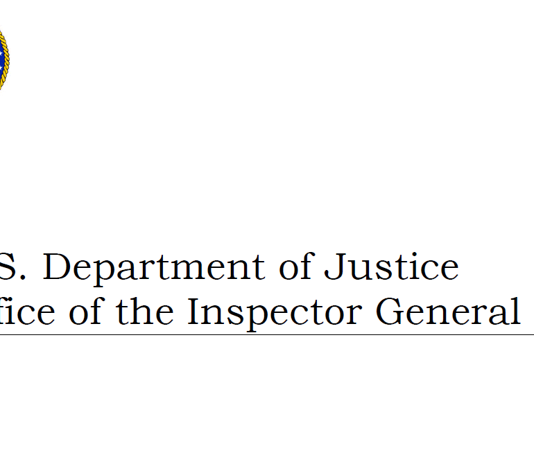 Department of Justice (DOJ) Inspector General Report to Congress on Implementation of Section 1001 of the USA PATRIOT Act , March 2017