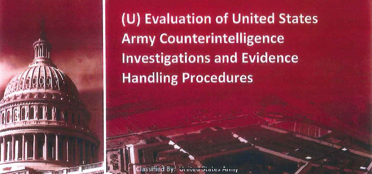 Evaluation of United States Army Counterintelligence ...