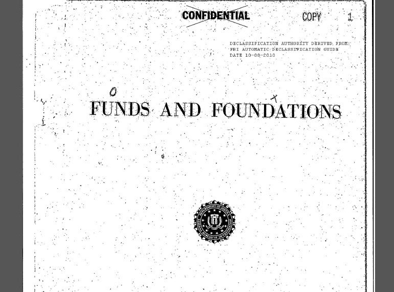FBI Monograph: Funds and Foundations, October 1959