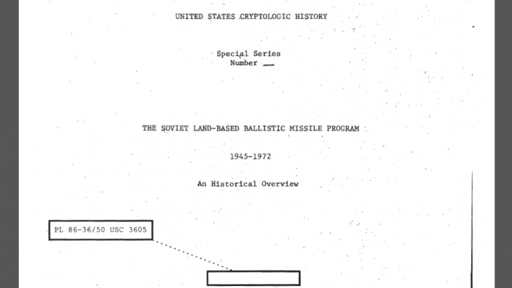 The Soviet Land-Based Ballistic Missile Program, 1945-1972: An Historical Overview, 1973