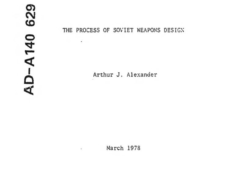 The Process of Soviet Weapons Design, March 1978