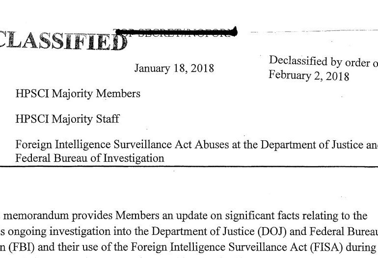 The FISA Memo: Foreign Intelligence Surveillance Act Abuses at the Department of Justice and the Federal Bureau of Investigation