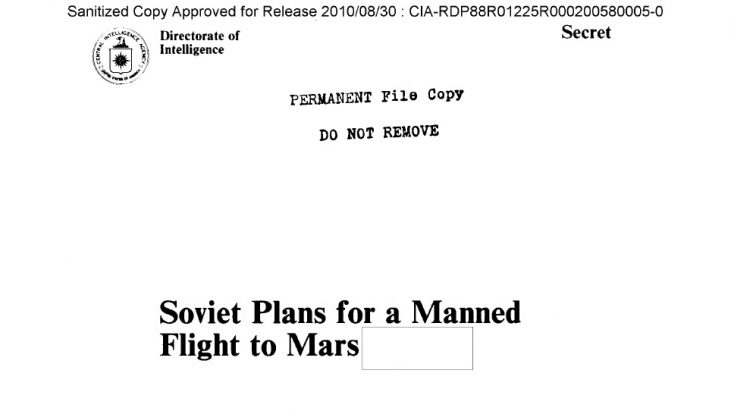 Soviet Plans for a Manned Flight to Mars, May 1985