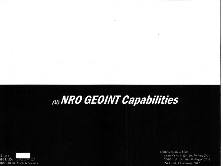 NRO GEOINT Capabilities, February 2012