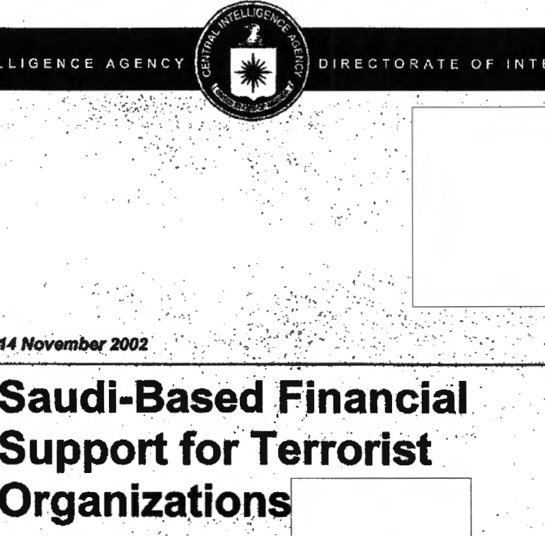 CIA Report: Saudi-Based Financial Support for Terrorist Organizations, 14 November 2002