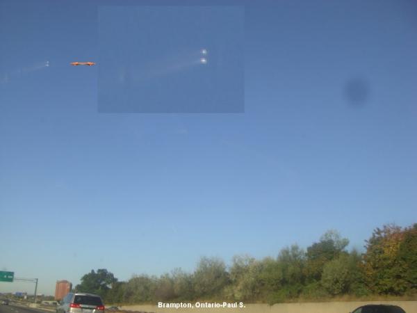 UFO over Brampton, Ontario, Canada