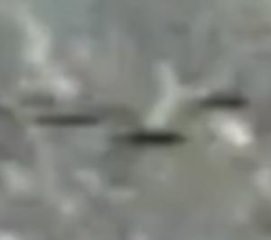 Close up of the UFOs caught on camera.