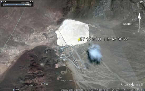 Google Earth Photos Reveal Strange Cloud Over Area 51