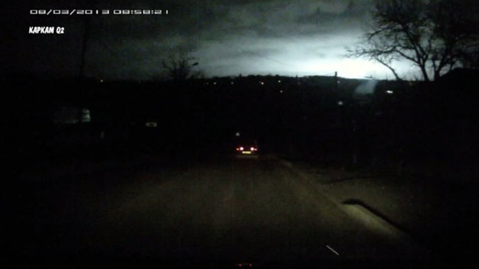 Mysterious flash lightens night sky in south Russia (VIDEO)