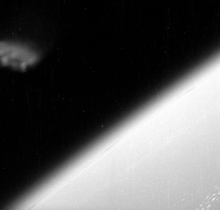 Unknown Object in 1960 Photographs from Mercury-Redstone 1A