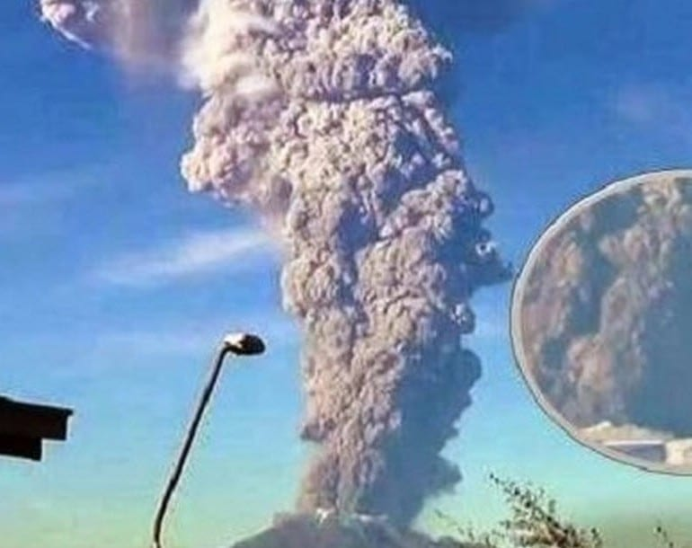 UFO Orbs Captured On Video Flying In Formation Into Erupting Calbuco Volcano In Chile