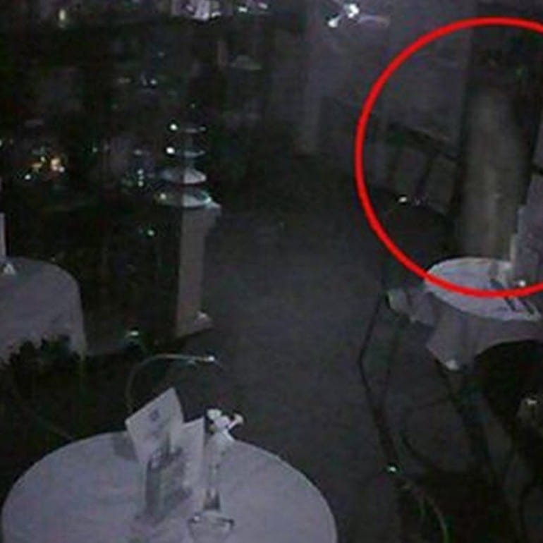 Ghostly apparition caught on camera at Perth tearoom