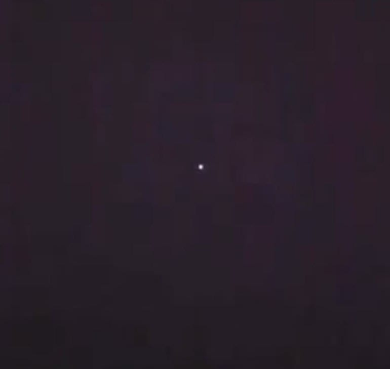Man Sees Several Spinning UFOs Emitting Bright Light. Video Taken.