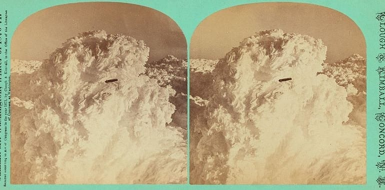 UFO over Mt. Washington, New Hampshire, 1870