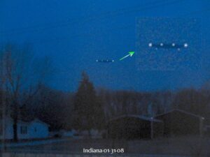 Unknown Object Photographed over Indiana