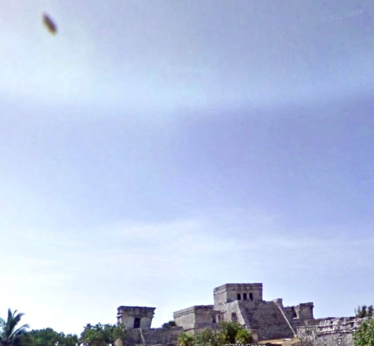 'Cloaked' Cigar-Shaped UFO Spotted Over Castle Ruins In Tulum, Mexico