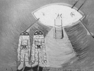 Artist's rendition of the Voronezh landing by Elena Penkova.