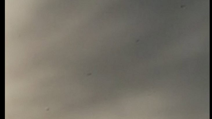 Caught round metallic orbs in picture – Jamestown/High Point, North Carolina