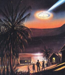 Artist's impression of the sighting. (Credit: Artist Unknown)