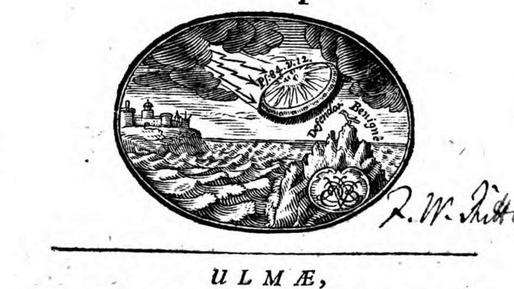 Book Published in 1716 Depicts UFO / Flying Craft on Cover Art