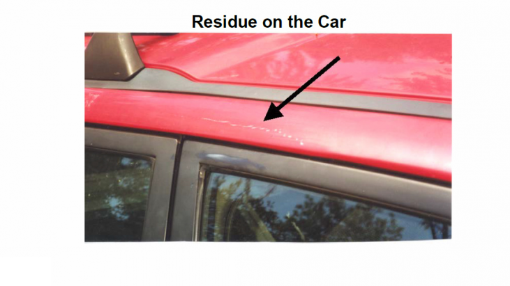 Analysis of Residue That Resulted After an Unknown Basketball-Size Object Impacted a Car