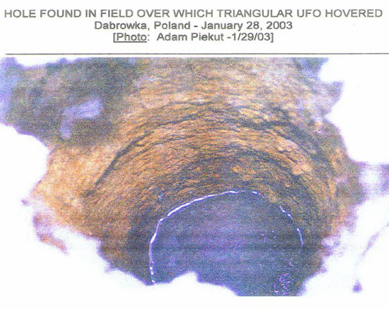Analysis of Soil from a Hole over which a Triangular UFO Hovered (Dabrowka, Poland, January 28, 2003)