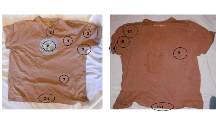 Analysis of a Tee Shirt Worn by an Experiencer during an Event on the Morning of February 6, 2014 (Winnipeg, Canada)