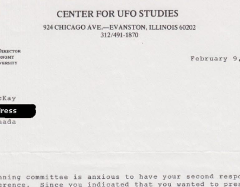 Letter from Dr. J. Allen Hynek to Henry McKay