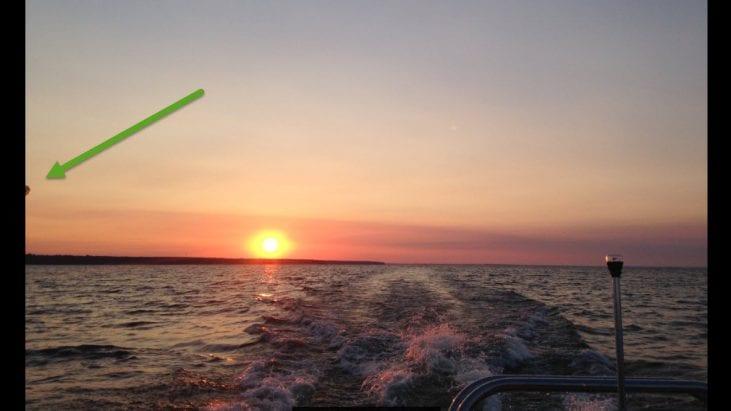 UFO Captured During Sunrise at Oneida Lake, New York