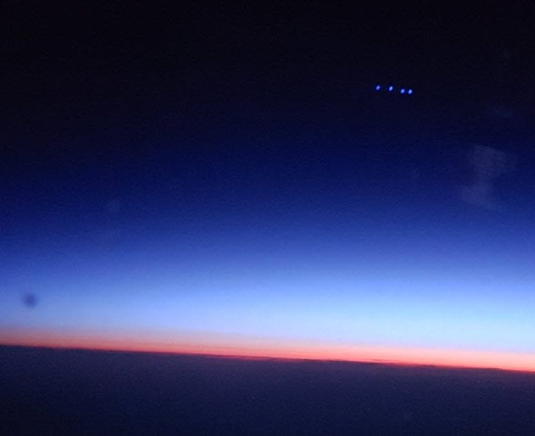 UFO Seen From Airplane During Flight From Finland to Tokyo, Japan